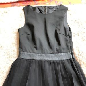 H&M black and faux leather dress